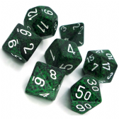 Green & Black 'Recon' Speckled Polyhedral 7 Dice Set